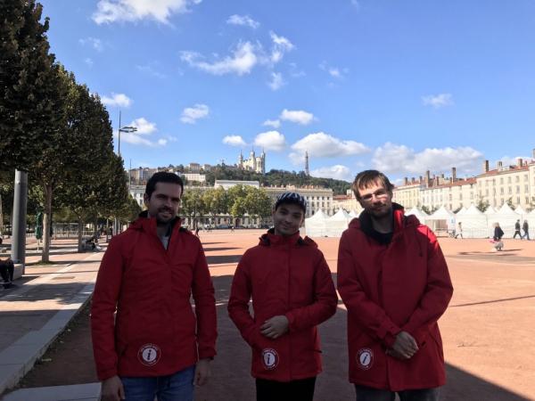 Marc, lorenzo et Alexis, volontaires du tourisme © ONLYLYON Tourisme et Congrès