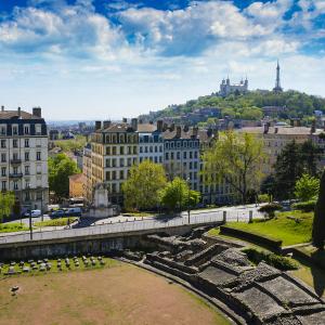 L'amphithéâtre des Trois-Gaules et Fourvière © Gaël Fontaine